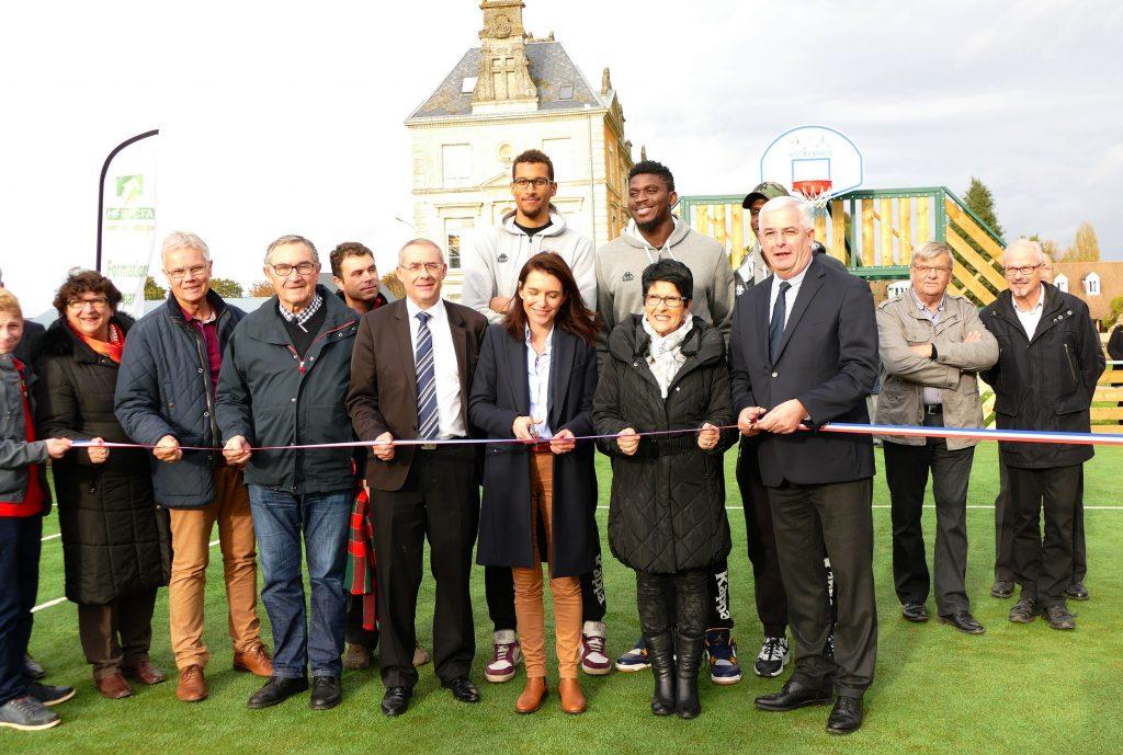 Inauguration du City -Stade de la MFR de Bernay-en-Champagne en présence du maire, Vincent HULOT.
