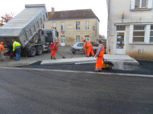 Travaux coeur de bourg à Bernay-en-Champagne