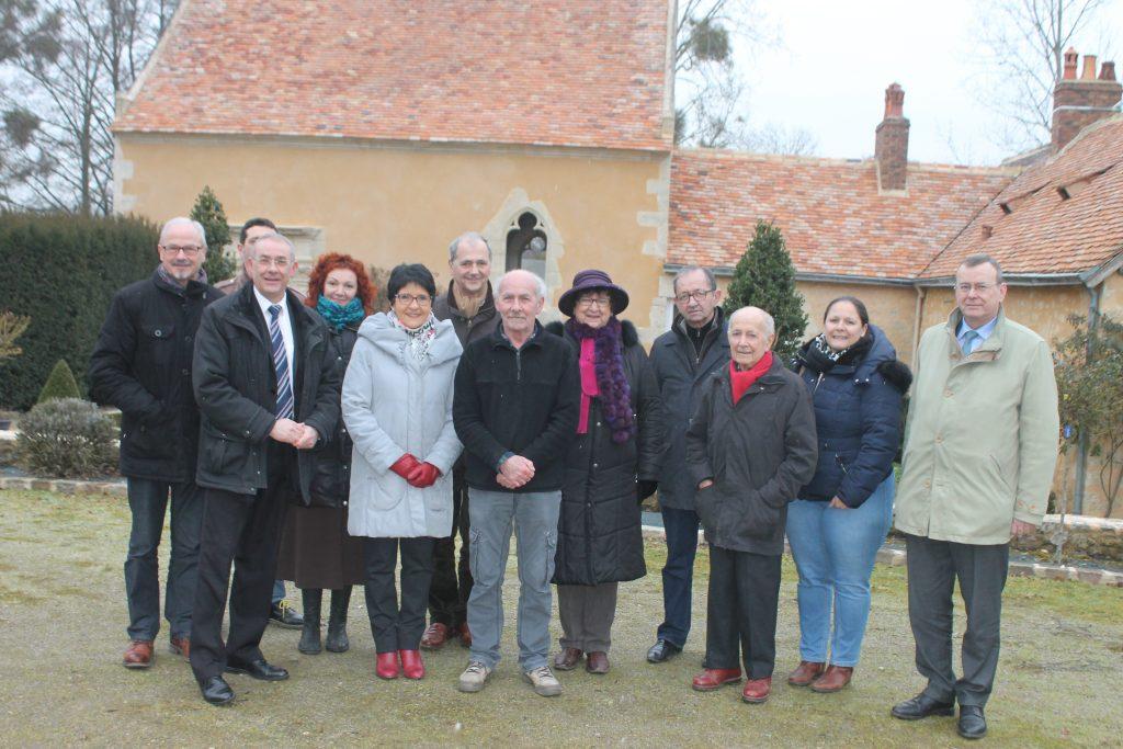 Vincent HULOT, maire de Bernay-en-Champagne, reçoit des élus locaux