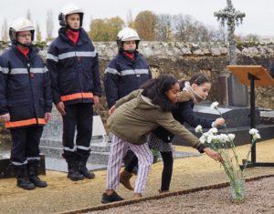 Bernay-Neuvy-en-Champagne le 11 novembre 2018, commémoration du centième anniversaire de l'armistice de la Grande Guerre